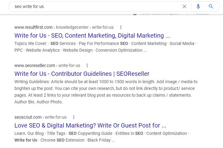 google-seo-example